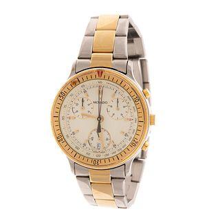 A Two Toned Movado Chronograph Wrist Watch