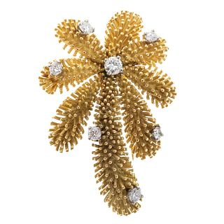 A 1950s French Tiffany & Co Diamond Brooch in 18K