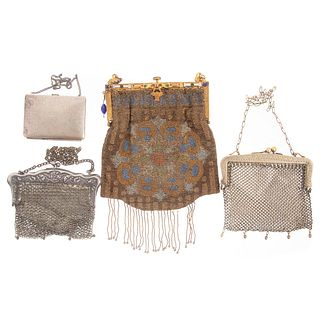 Collection of Antique Metal & Beaded Purses
