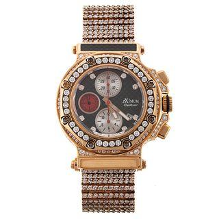 A Men's Substantial Diamond Aximum Watch in 18K