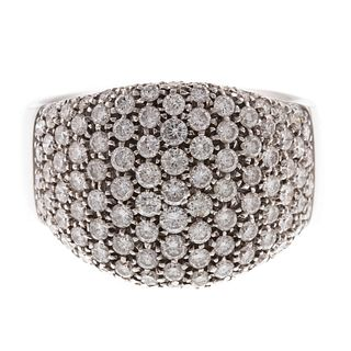 A 3.00ctw Pave Diamond Wide Band in 18K White Gold