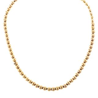A Gold Beaded Necklace in 14K