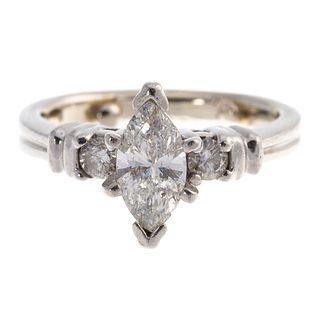 A 1.00 ct Marquise Diamond Ring in Platinum