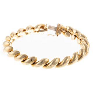 An Italian San Marco Link Bracelet in 14K