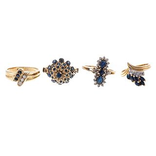 A Collection of Sapphire & Diamond Rings in 14K