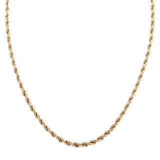 A Heavy Twisted Rope Chain Necklace in Gold