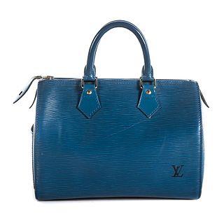 A Louis Vuitton Epi Speedy 25