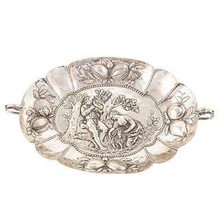 German Silver Repousse Bowl