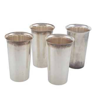 Four S. Kirk & Son Sterling Silver Tumblers