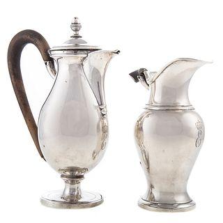 Two Silver Cream Jugs from Eugene de Beauharnais