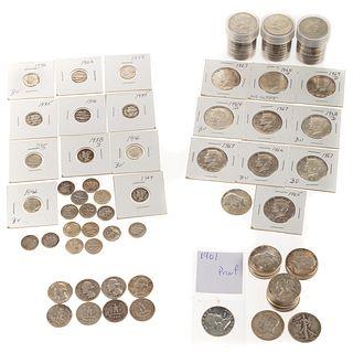 US Silver Coins: $14.60-90% & 71 40% Halves