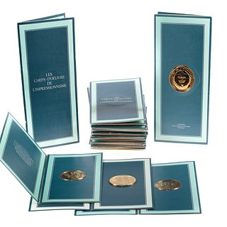 19 Sterling Medals Electroplated with 24K Gold