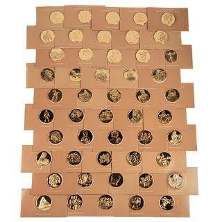 Set of 50 Genius Of Da Vinci Sterling Silver Medal