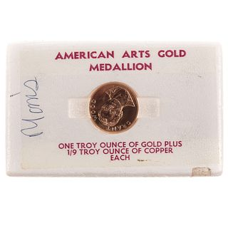 Grant Wood 1 Oz American Arts Gold Medallion