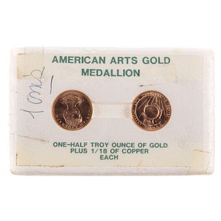 2- Half Ounce Marion Anderson Gold Medallions