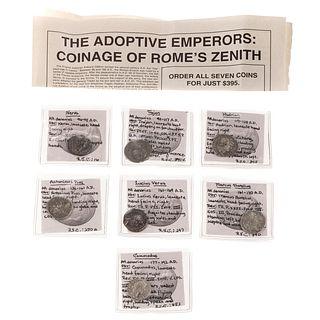 7 Very Nice Roman Coins: Nerva to Commodus