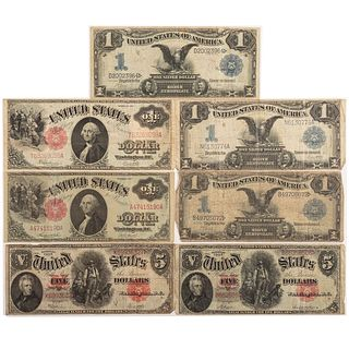 Nice Group of Seven Large US Notes 1899-1917