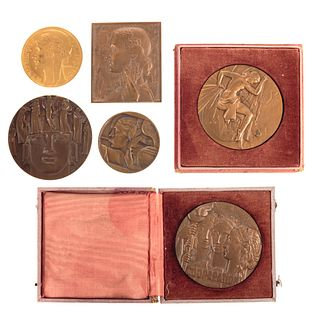 Collection of Six French Medals