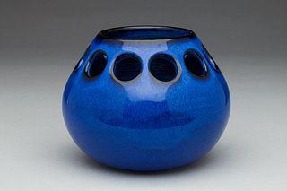 Blue Tabletop Candle Holder