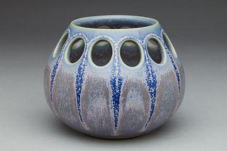 Lavender/Blue Starburst Candle Holder