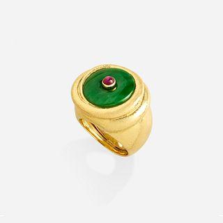 David Webb, Jade and ruby ring