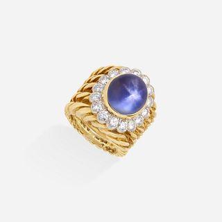 David Webb, Star sapphire and diamond ring