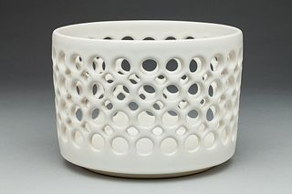 Small Cylindrical Lace Bowl