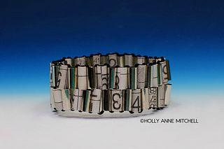 Recycled Newspaper Sudoku Puzzle Bracelet