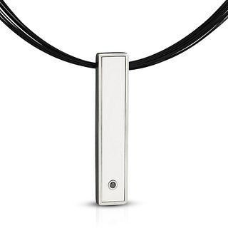 Portland Skies White Bar Necklace
