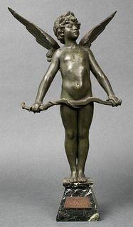 "After Auguste Moreau ""Vici"" Cupid Sculpture"