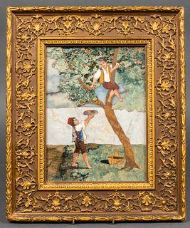 Late 19th Century Florentine Pietra Dura Panel
