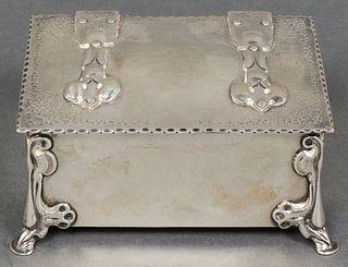 English Silver Arts & Crafts Dresser Box