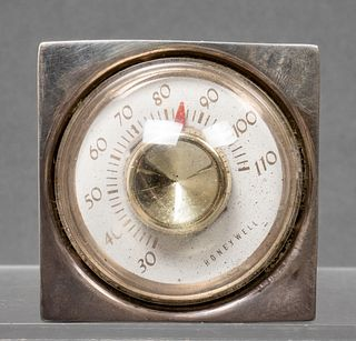 Cartier Sterling Silver Desk Thermometer