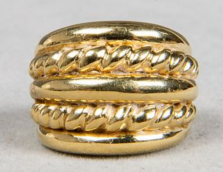 Italian 18K Yellow Gold David Yurman Style Ring