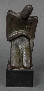 Nancy Dryfoos Abstract Man Modern Bronze Sculpture