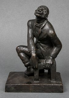 "Helene Sardeu ""Jazz Singer"" Bronze Sculpture"