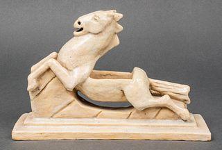 """Lillie H. Harper """"Pegasus"""" Pottery Horse Sculpture"""