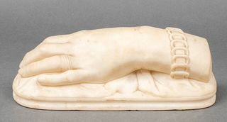 Antique Carved Marble Sculpture of a Lady's Hand