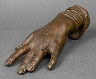 Bronze Sculpture of Lady's Hand with Ring