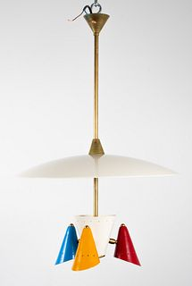 Italian Stilnovo Style Three-Light Chandelier