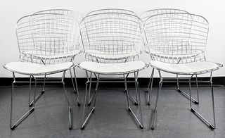 "Bertoia for Knoll ""420"" Chairs, Set of 6"