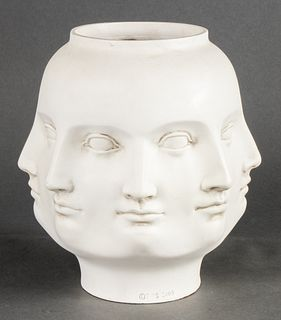 """TMS Fornasetti Style """"Perpetual Face"""" Vase"""