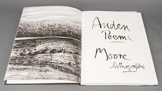 Auden Poems Henry Moore Lithographs 1974 Edition B