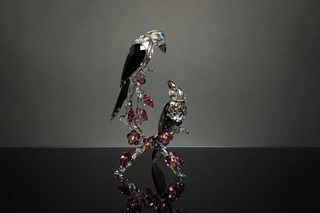 Swarovski, Boxed Tutelary Spirit, Loving Magpies