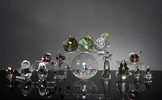 Swarovski, 14 Boxed Crystal Christmas Pieces