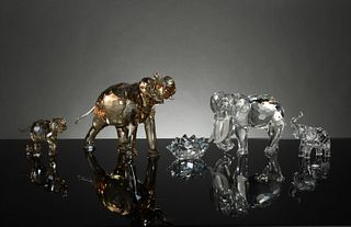 Swarovski, 4 Boxed SCS Elephants Inc. Cinta