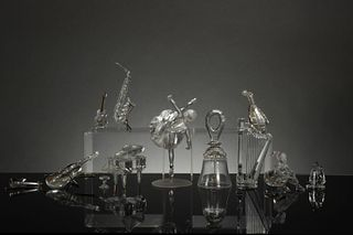 Swarovski, 11 Boxed Instruments and Ballerinas