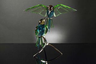 Swarovski, Boxed Crystal Bee Eaters, Peridot