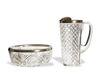 Tiffany and Co. Pitcher with Shreve and Co. Bowl