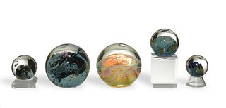 5 Josh Simpson Planets / Paperweights